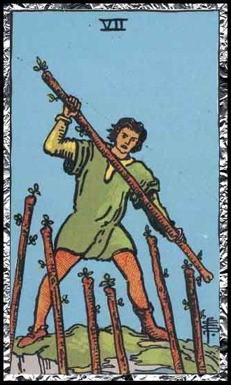 Seven wands