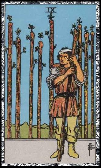 Nine wands