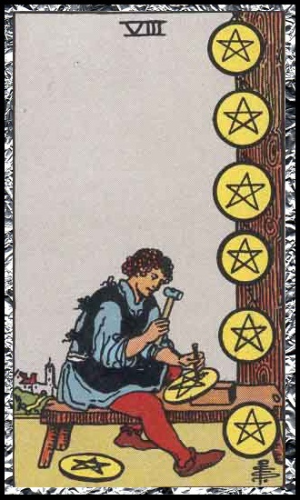 Eight Pentacles